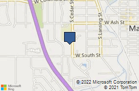 Bing Map of 624 S Cedar St Ste 400 Mason, MI 48854