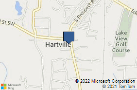 Bing Map of 627 S Prospect Ave Hartville, OH 44632