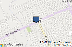 Bing Map of 627 W Main St Uvalde, TX 78801