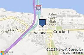 Bing Map of 628 2nd Ave Ste 310 Crockett, CA 94525