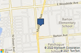 Bing Map of 629 Route 112 Ste 10 Patchogue, NY 11772