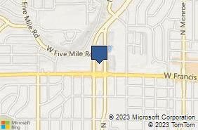 Bing Map of 6321 N Maple St Spokane, WA 99208