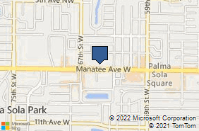 Bing Map of 6404 Manatee Ave W Ste A Bradenton, FL 34209