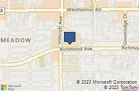 Bing Map of 6420 Richmond Ave Ste 326 Houston, TX 77057