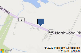 Bing Map of 648 First New Hampshire Tpke Northwood, NH 03261