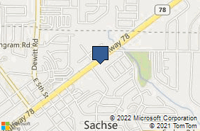 Bing Map of 6504 Highway 78 Ste 120 Sachse, TX 75048