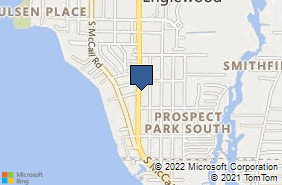 Bing Map of 651 S Indiana Ave Englewood, FL 34223