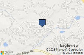 Bing Map of 654 Wharton Blvd Exton, PA 19341
