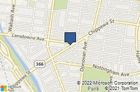 Bing Map of 6640 Chippewa St Saint Louis, MO 63109