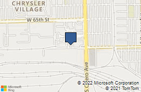 Bing Map of 6640 S Cicero Ave Bedford Park, IL 60638