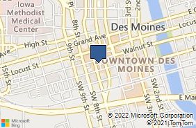 Bing Map of 666 Walnut St Ste 1548 Des Moines, IA 50309