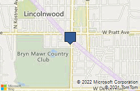Bing Map of 6708 1/2 N Crawford Ave Lincolnwood, IL 60712