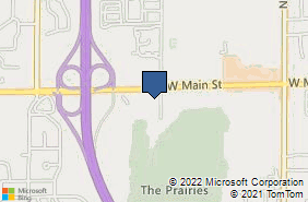 Bing Map of 672 Maple Hill Dr Kalamazoo, MI 49009