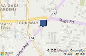 Bing Map of 6803 Us Highway 70 Memphis, TN 38134