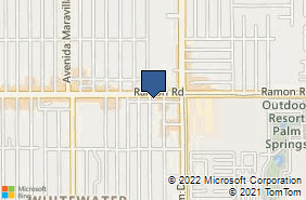 Bing Map of 68192 Ramon Rd Cathedral City, CA 92234
