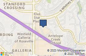 Bing Map of 6845 Five Star Blvd Ste D Rocklin, CA 95677