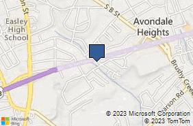 Bing Map of 6907 Calhoun Mem Hwy Ste A Easley, SC 29640