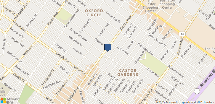 6911 Castor Ave Philadelphia, PA, 19149 Map