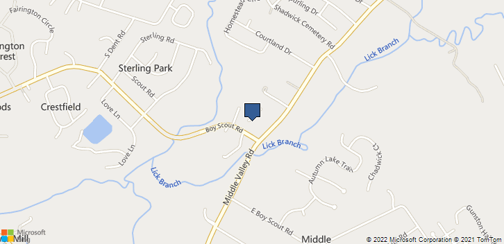 6921 Middle Valley Road Hixson, TN, 37343 Map