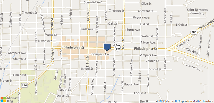 7 S 5th St Indiana, PA, 15701 Map