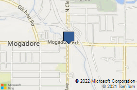Bing Map of 7 S Cleveland Ave Mogadore, OH 44260