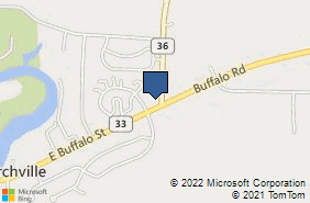 Bing Map of 7 Washington St Churchville, NY 14428