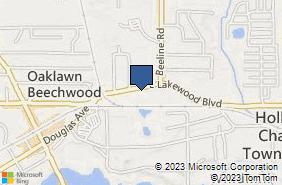 Bing Map of 70 E Lakewood Blvd Ste 20 Holland, MI 49424