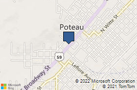 Bing Map of 700 S Broadway St Poteau, OK 74953