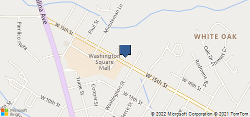 Bing Map of 700 W 15th St Washington, NC 27889