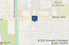 Bing Map of 7001 Corporate Dr Ste 139 Houston, TX 77036