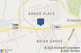 Bing Map of 701 N Loop 336 E Ste 107 Conroe, TX 77301
