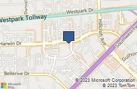 Bing Map of 7011 Harwin Dr Ste 193 Houston, TX 77036