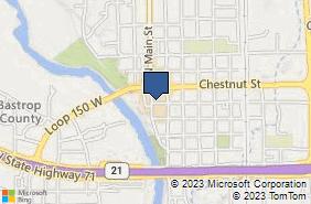 Bing Map of 702 Pine St Bastrop, TX 78602