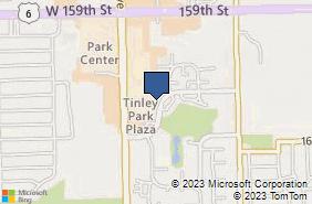 Bing Map of 7060 Centennial Dr Ste 104 Tinley Park, IL 60477