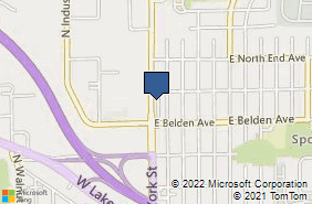 Bing Map of 707 N York St Elmhurst, IL 60126