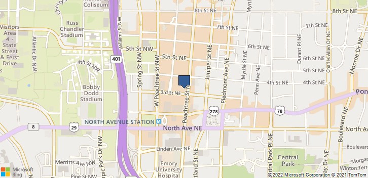 710 Peachtree St Ne 265 Atlanta, GA, 30308 Map