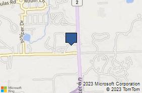 Bing Map of 711 Quaker Ln West Warwick, RI 02893