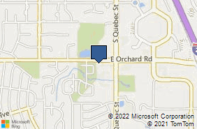 Bing Map of 7120 E Orchard Rd Ste 270 Centennial, CO 80111