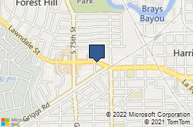 Bing Map of 7140 Lawndale St Ste B Houston, TX 77023