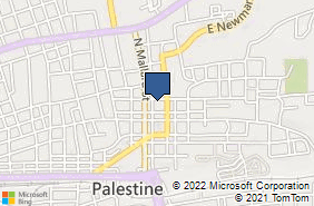 Bing Map of 716 N Church St Palestine, TX 75801