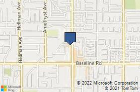 Bing Map of 7168 Archibald Ave Ste 280 Alta Loma, CA 91701