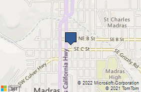 Bing Map of 72 Se 6th St Madras, OR 97741