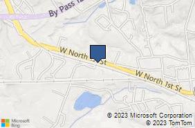 Bing Map of 721 W North 1st St Seneca, SC 29678