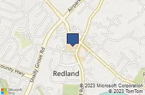 Bing Map of 7218 Muncaster Mill Rd Derwood, MD 20855