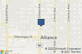 Bing Map of 724 S Union Ave Alliance, OH 44601