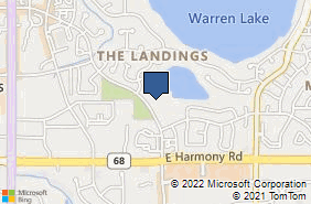 Bing Map of 724 Whalers Way Ste H104 Fort Collins, CO 80525