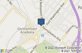 Bing Map of 7241 Hollywood Rd Fort Washington, PA 19034