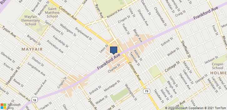 7248 Frankford Ave Philadelphia, PA, 19135 Map
