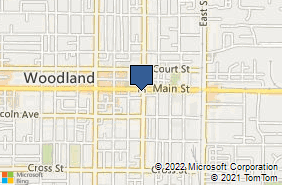 Bing Map of 726 Main St Woodland, CA 95695