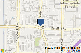 Bing Map of 7270 Victoria Park Ln Ste 3c Rancho Cucamonga, CA 91739